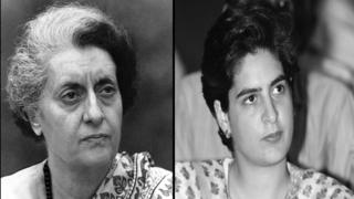 इंदिरा गांधी आणि प्रियंका गांधी
