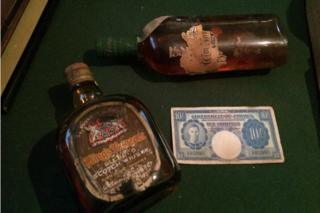 Bottles recovered from SS Politician