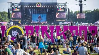 Festival audience enjoys the first day of the Pinkpop music festival, at Landgraaf, The Netherlands, 15 June 2018. EPA/MARCEL VAN HOORN