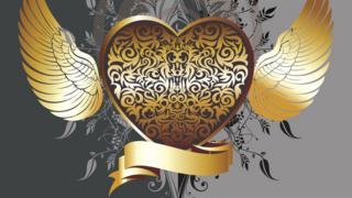 Сердце с крылышками