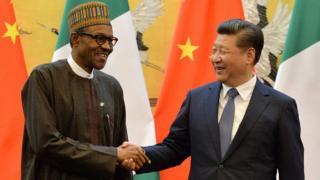 Aworan Aarẹ Buhari at Xi Jinping China