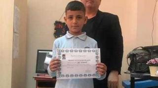 Wael al-Saud, nine, moved to Turkey from Syria with his family in 2015