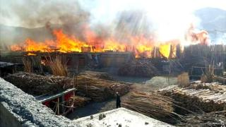 آتش سوزی در پروان
