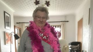 May Webber on her 90th birthday in April this year