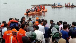 Rescue teams at the site of the accident