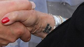 Judi Dench's wrist tattoo