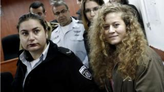 Ahed Tamimi in court (13/02/18)