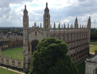 The four spires of King's College Chapel