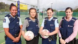 Waitemata Police officers talk about their unusual arrest