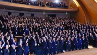 ruling party, iqtidar partiyasının qurultayı, YAP qurultayı, Bakı, hakim partiya, Heydər Əliyev mərkəzi, Haydar Aliev centre