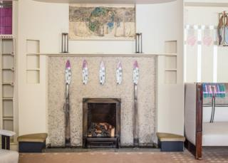 Hill house fireplace