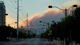 in_pictures Fire in Mount Charleston as seen from downtown Las Vegas