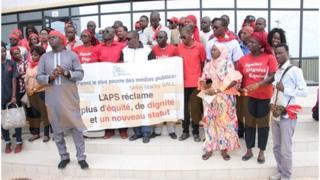 Une assemblée générale des travailleurs de l'Agence de presse sénégalaise