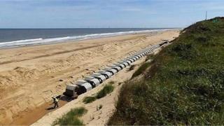 Hemsby sea defences