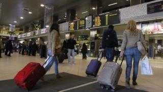 Otopeni airport near Bucharest