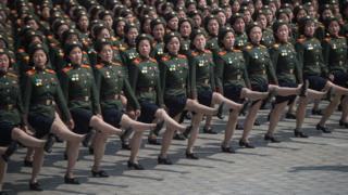 Парад в 2017 году в Пхеньяне