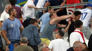 Фанаты на стадионе