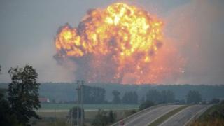 Так выглядели взрывы в Калиновке