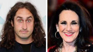 Ross Noble and Lesley Joseph