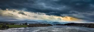 I took this from the bridge in Connel, close to Oban looking south-east over Loch Etive.