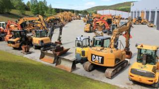 File image of Caterpillar diggers