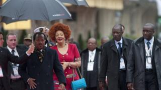 Paul Biya and im wife