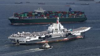 遼寧號進入維多利亞港(7/7/2017)