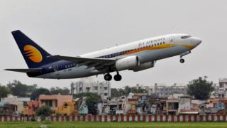 A Jet Airways flight