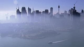 smoke covering sydney's skyline