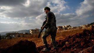 Türk Silahlı Kuvvetleri (TSK) ve Özgür Suriye Ordusu'nun (ÖSO) Afrin'e Zeytin Dalı Harekatı 19'uncu gününde.