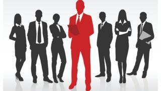Силуэты людей в деловых костюмах