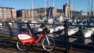 Bike in Swansea Marina