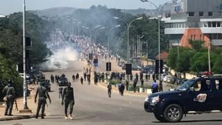 Nigerian police on Friday deny accuse of Amnesty International wey report say dem maltreat Shia members for one kwanta wit military inside Abuja wey bin happun dis week.