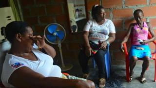 Female victims of the conflict Colombian conflict victims Antioquia department, Colombia on June 13, 2016.