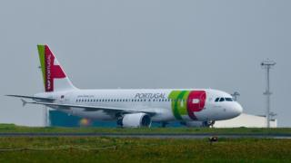 Plane from Portuguese flagship carrier TAP at Lisbon airport (file image)