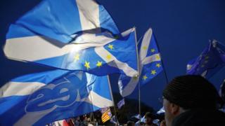 Флаги Шотландии со звездами ЕС