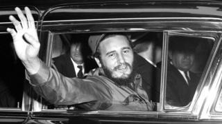 Fidel Castro chegando em Nova York em 1959
