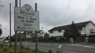 Bridgend council sign