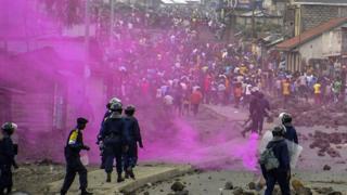 Abatavuga rumwe na leta ya Kongo bahanganye n'abapolisi i Goma mu buseruko bw'igihugu