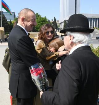 Ilham Əliyev, Mehriban Əliyeva və müharibə veteranları