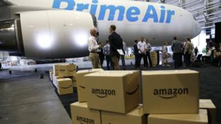 Amazon parcels and plane