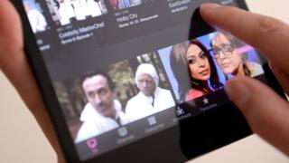 BBC iPlayer on a tablet