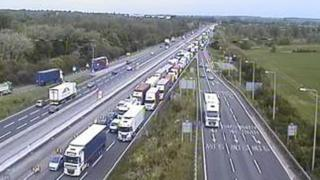 M1 at junction 14