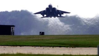F15 jet at RAF Lakenheath