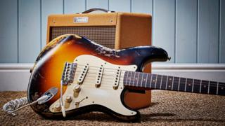 A Fender Custom Shop '59 Stratocaster electric guitar and Fender Pro Junior IV Ltd Edition combo amplifier