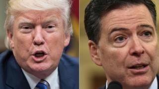 President Trump and James Comey