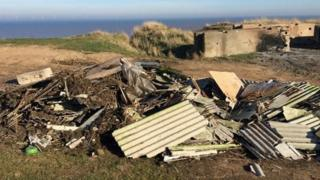 Fly tipped asbestos
