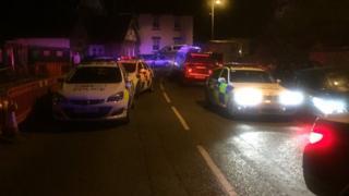 Cordoned off roads in Bewdley