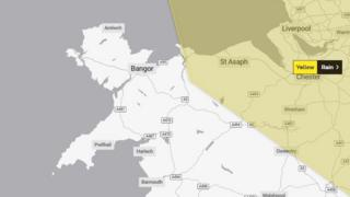 Yellow warning for rain