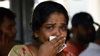 سری لنکا میں بم دھماکوں میں ہلاک ہونے والے ایک شخص کی رشتہ دار